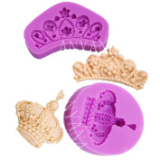 Anyana Silicone Crown Tiara mould Sugarcraft Princes mould cup cake toppers decorations