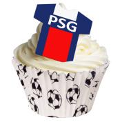 Pack of 12 - Paris Saint Germain FC Football decotaions Pre-Cut and top quality.