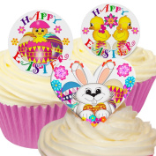 Mixed pack of 16 Edible Wafer Decorations - Mixed Happy Easter Pack 201-399