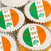 St Patrick's Day Cupcake Toppers - Edible Wafer - 4cm x 24 - by Deb's Kitchen Cakes