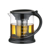 TAMUME Durable Glass Tea Kettle with Teapot Protector and Stainless Steel Strainer Suitable for Tea Brewing