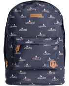 Brakeburn Sail Boats Design Backpack Blue Coated Cotton