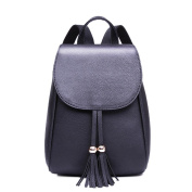Cap tassel shoulder bag/ pure colour bag/ College style backpack/Lady bags-B