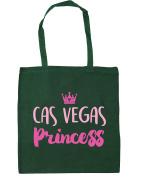 HippoWarehouse Cas vegas princess Tote Shopping Gym Beach Bag 42cm x38cm, 10 litres
