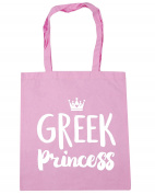 HippoWarehouse Greek princess Tote Shopping Gym Beach Bag 42cm x38cm, 10 litres