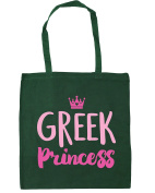 HippoWarehouse Greek princess Tote Shopping Gym Beach Bag 42cm x38cm, 10 litres