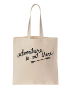 Adventure Is Out There Arrow Design Cotton Canvas Tote Bag