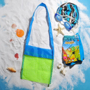 K & C Children Toys Shell Collect Grid Beach Bag Sand Toy Bag Beach Toys Pool Toys Lego Bricks Mesh Tote To Declutter