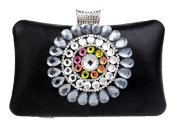 Santimon Clutches For Women Shiny Rhinestones Crystals Colourful Handbags Evening Bags