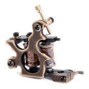 Solong Tattoo Custom Brass Tattoo Machine Gun Handmade 12 Wrap Pure Copper Coils Lining M206-1