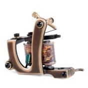 Solong Tattoo Custom Brass Tattoo Machine Gun Handmade 12 Wrap Pure Copper Coils Shading M201-2