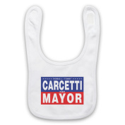 Inspired by The Wire Carcetti For Mayor Unofficial Baby Bib, White