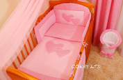 3 PCs BABY NURSERY BEDDING SET/bumper DUVET Cover/Pillowcase to fit COT