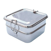 HealthAndYoga(TM) Double Decker Stainless Steel Lunch Box | The Healthier Alternative