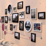 Photo frame set -living room dining room european-style bright combination of creative Photo frame hanging 20 box,Black and White