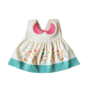 DecStore Baby Drool Lovely Waterproof Cotton Dress Bibs with Snaps for Girls