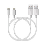 iPhone Charger Cable- Lightning Cable for iPhone iPad iPod-White 2 Pack 0.9m