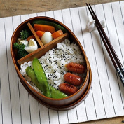 K & C Japanese-style Bento Box Wooden Handmade Sushi Box Tableware Bowl Lunch Box
