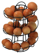 Egg Skelter Deluxe Modern Spiralling Dispenser Rack, Black