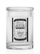 montemaggi Jar Sugar Glass Decorated With Lettering Black. In Shabby, has Airtight Cap. Dimensions