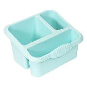 Duck Egg Blue Plastic Kitchen Sink Storage Caddy / Cutlery Drainer