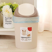 Creative, cover-litter bins home with lid kitchen living room Plastic Circular wc toilets cover the Trash,8.2L beige