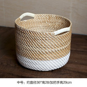TRASH CAN The rattan American village of rattan round admit bucket toys debris organise admit basket stained clothing , basket of primary colours in the inter-agency White