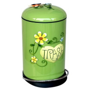 TRASH CAN Continental style dustbin creative home with covers foot-WC kitchen waste Trash , the Emerald