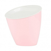 TRASH CAN Rocker Cover Desktop dustbin stylish creative table admit bucket car with household kitchen Mini Bin , light pink