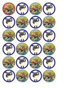 24 x Timmy Time Cupcake Toppers