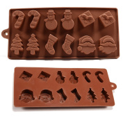 6 Shapes Christmas Chocolate Cake Jelly Ice Silicone Fondant Mould
