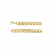 Fine Jewellery Vault UBCH980AGVYMM930 9.30 mm Curb Chain Necklace in 18K Yellow Gold Vermeil
