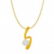 Fine Jewellery Vault UBPDS86380Y14CZ April Birthstone Cubic Zirconia Freeform Pendant in 14K Yellow Gold