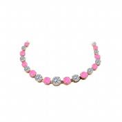Fine Jewellery Vault UBUNKBK7205AGVRCZPS Cubic Zirconia Pink Sapphire Graduated Necklace Rose Gold Vermeil