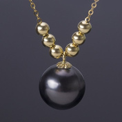 Berry Ya 18K gold natural round sinking black pearl pendant to send my mother 's girlfriend' s gift B06101