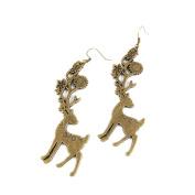 2 Pairs Fashion Jewellery Making Charms Earrings Backs Findings Arts Crafts Hooks Bulk Lots Wholesale Supplier H0UN0 Xmas Deer
