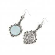 1 Pairs Jewellery Making Antique Silver Tone Earring Supplies Hooks Findings Charms N4RT2 Mirror