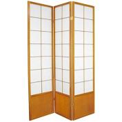 Oriental Furniture 1.8m Tall Zen Shoji Screen - Honey - 3 Panels