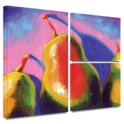 ArtWall Susi Franco 'Pearfect Shadow' Flag 3-Piece Gallery Wrapped Canvas Artwork, 60cm by 90cm