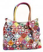 Ghlee Women Ladies Girls Fashion Real Leather Large Capacity Messenger Bag Handbag Shoulder Bag Tote Purse Multicolor