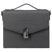 Montte Di Jinne - Premium Leather Structured Small Square Snake Skin Opening Shoulder, Cross Body Bag