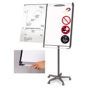 MasterVision Magnetic Platinum Dry Erase Mobile Presentation Easel, Black/Silver