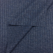 USA Made Premium Quality Sheer 4x4 Rib Knit Fabric (Wholesale Price by the bolt) - Indigo - 10 Yards