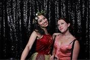 TRLYC 2.4m x 2.4m (240cm *240cm ) Sparkly Black Sequin Wedding Backdrop Sequin Curtain