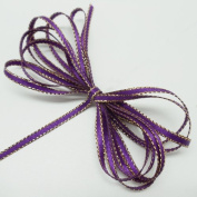Double Faced Satin Ribbon With Gold Edge 0.3cm X 100 Yards - B4008