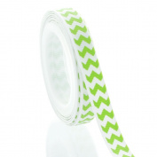1cm Apple Green Chevron ZigZag Grosgrain Ribbon 5yd