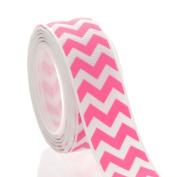 2.2cm Hot Pink Chevron ZigZag Grosgrain Ribbon 5 yard