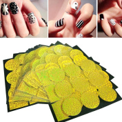 Nail Art Longra ♥ 24Sheets Nail Art Transfer Stickers 3D Design Manicure Tips Decorations ! ! (Size:8.8x7.8cm (24 sheet)) , Round Hollow Print ♥ ♥