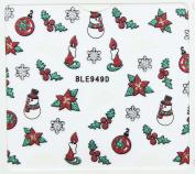 Nail Art 3D Glitter Stickers - Christmas