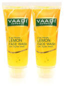 Vaadi Herbals Honey Lemon Face Wash With Jojoba Beads- All Natural- Anti Acne- Hydrating Cleanser- Good Moisturiser- Each 60 Ml- Value Pack Of 2 (120 Ml-4.05 Ounces) -